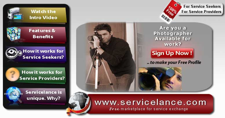 Photographer Jobs on ServiceLance