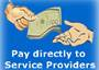 Pay directly to the Service Providers